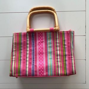 Cute Purse With Bamboo Handle